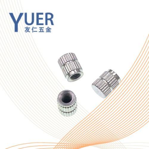 0612 精密机械用紧固件直纹滚花盲孔热熔螺母 DIN 16903