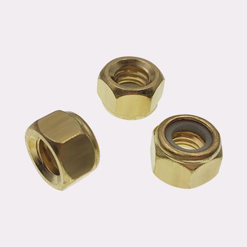 六角尼龙锁紧螺母 铜尼帽 ISO 7041-1997