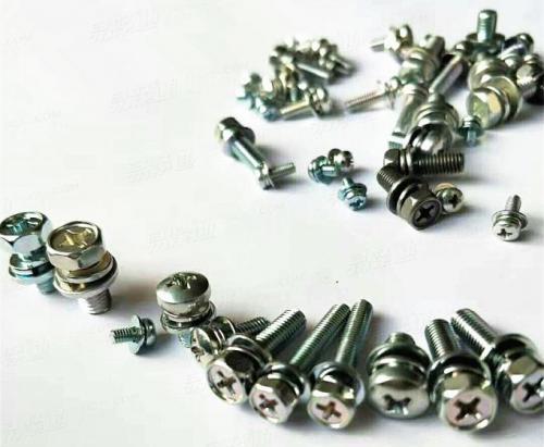 十字槽小盘头螺钉和平垫组合