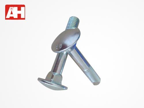 8.8级镀环保彩锌大半圆头方颈螺栓