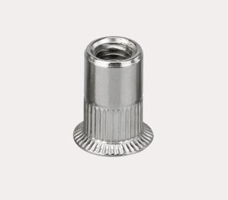 A2 开口型拉铆螺母-圆柱竖纹小沉头