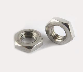 A4 DIN439不锈钢六角薄螺母