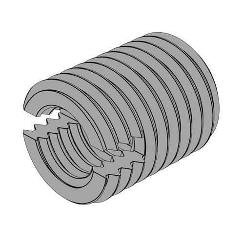 公制內螺紋自攻鑲嵌件