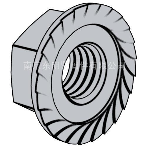 DIN 6923 - 1983 六角法蘭螺母