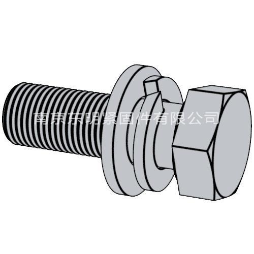 Q 146(B) 六角頭螺栓與彈墊、平墊組合
