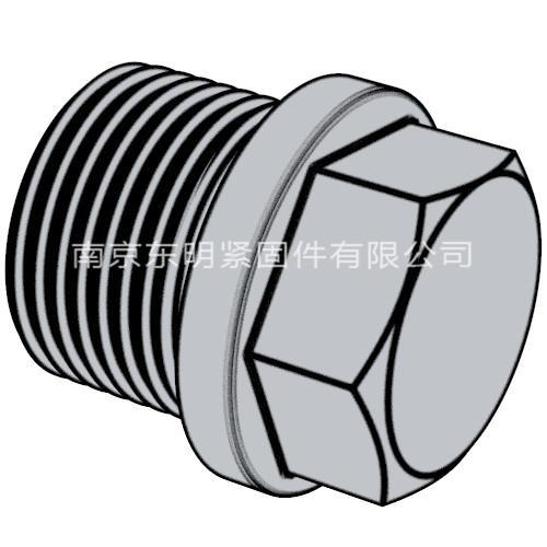 DIN 910 - 2012 帶肩的外六角螺旋塞.重載圓柱螺紋 (標準型)
