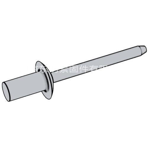 ISO 15973 - 2000 鋁帽鐵芯封閉型半圓頭抽芯鉚釘 11級