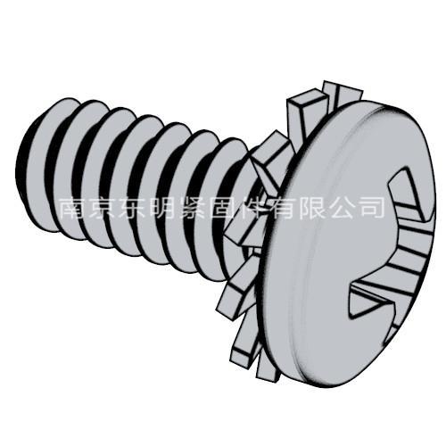 GB/T 9074.2 - 1988 十字槽盤頭螺釘和外鋸齒鎖緊墊圈組合件