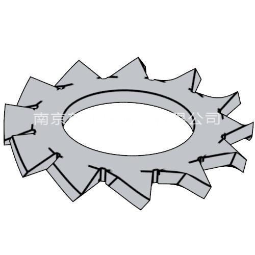 GB/T 9074.27 - 1988 組合件用外鋸齒鎖緊墊圈