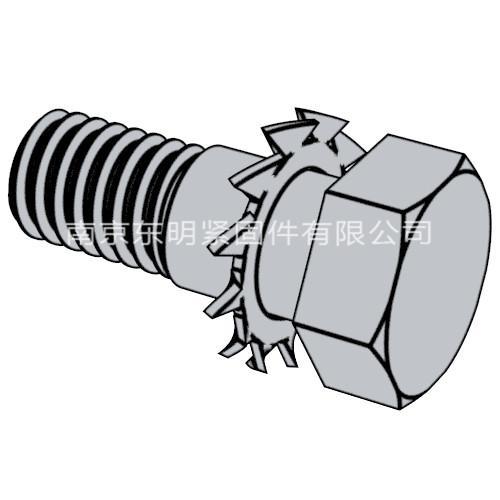 GB/T 9074.16 - 1988 六角头螺栓和外锯齿锁紧垫圈组合件