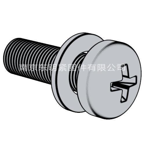 GB/T 9074.5 - 2004 十字槽小盤頭螺釘和平墊圈組合件
