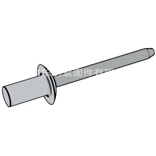 GB/T 12615.1 - 2004 封闭型平圆头抽芯铆钉 11级 铝帽铁芯
