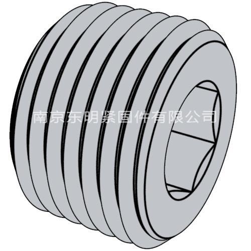 DIN 906 - 2012 内六角套筒管塞. 锥形螺纹