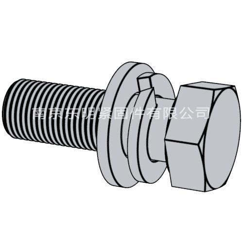GB/T 9074.17 - 1988 六角头螺栓、弹簧垫圈和平垫圈组合件