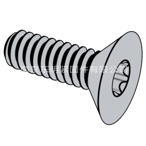 ISO 14582 - 2013 沉头梅花槽螺钉, 高头
