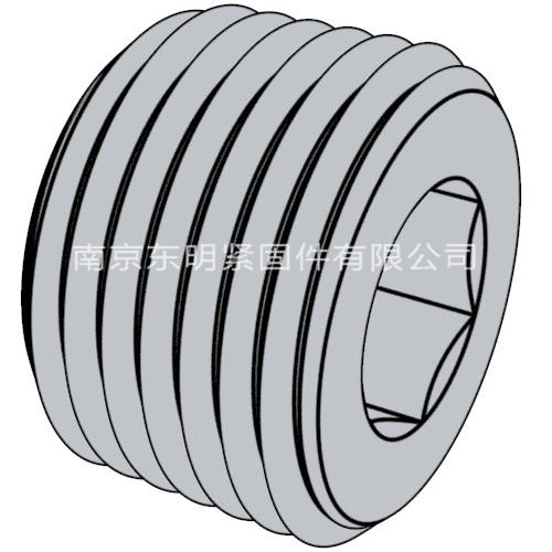 DIN 906 - 2012 內六角套筒管塞. 錐形螺紋
