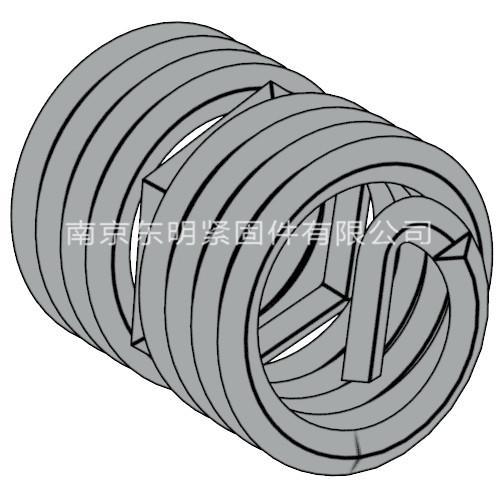 ANSI ASME B 18.29.1 - 1993 UNC螺纹锁紧型钢丝螺套